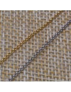 Catena Rolo anelle tonde 1,3 mm in argento 925% per 50 cm