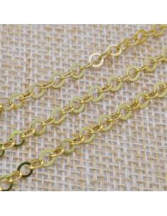 Catena in argento 925% anelle rotonde piatte 3 mm per 10 cm