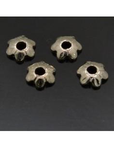 Copri perla 3 mm in argento 925% 100pz