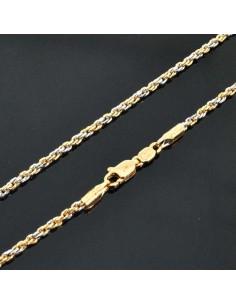 Base per collana catena attorcigliata lungo 60CM per Ciondolo e pendente oro/argento 2mm