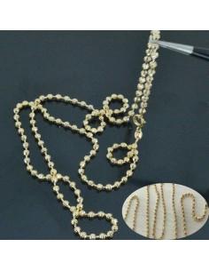 Base per collana SFERE SFACCETTATE 3mm col oro 60cm per Ciondolo e pendente