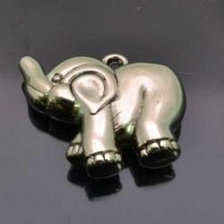 Ciondolo Elefante decorato ARGENTONE 29x35 mm 1 Pz.