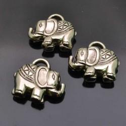 Ciondolo Elefante decorato ARGENTONE 20x23mm 3pz