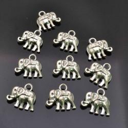 Ciondolo charm ciondolo Elefante 10x12 mm per bigiotteria 10Pz.