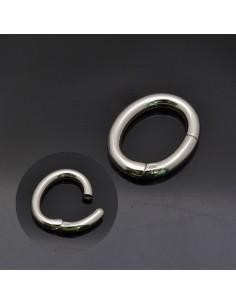 Chiusura Ovale 20x23 mm in argento 925%