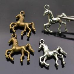 ciondolo forma di cavallo pendente cavallo per bigiotteria 22x23mm 2pz