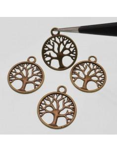 charms Ciondolo albero della vita 20mm in metallo colore bronzo 4 pz