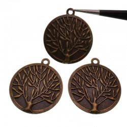 charms Ciondolo albero della vita 28mm in metallo colore bronzo 3 pz