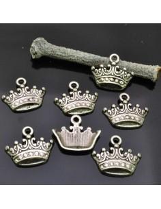 ciondoli charms corona 14x17 mm 8pz per bracciali bigiotteria