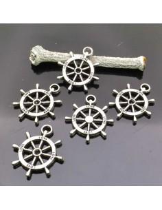 ciondolo Timone intagliato con scritta love colore argento 23×20 mm 5pz per bigiotteria