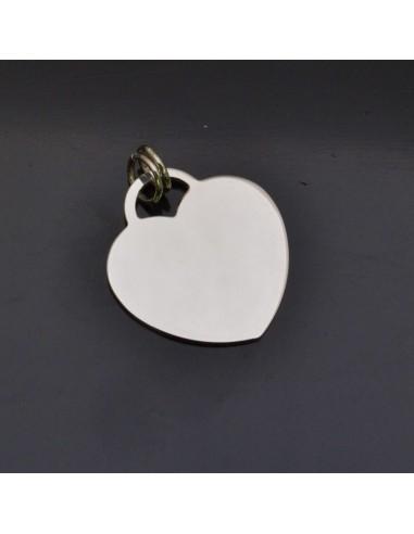 Ciondolo Cuore 19x18 mm con anella 8x5 mm in argento 925% Made in Italy