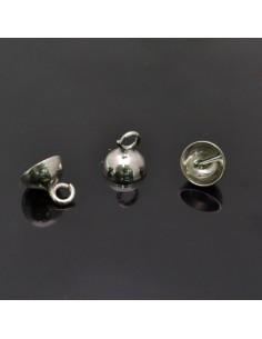 Coppetta con gancio 8x8 mm 10pz in argento 925%