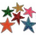 Toppe Toppa con paillettes termoadesive forma stella 8cm Patch termoadesiva Applique