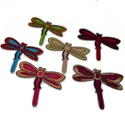 Toppe termoadesive libellula animale 6x8 cm Patch Toppa ricamate Applicazioni pz 1