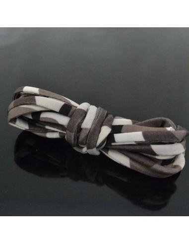 Fettuccia elastica tubolare elastica in Lycra colore camouflage marrone 1mt per bracciale collana
