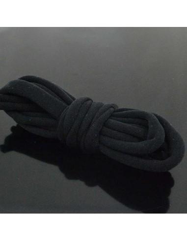 Fettuccia elastica tubolare elastica in Lycra colore nero 1mt per bracciale collana