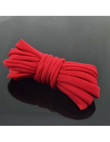 Fettuccia elastica tubolare elastica in Lycra colore rosso 1mt per bracciale collana