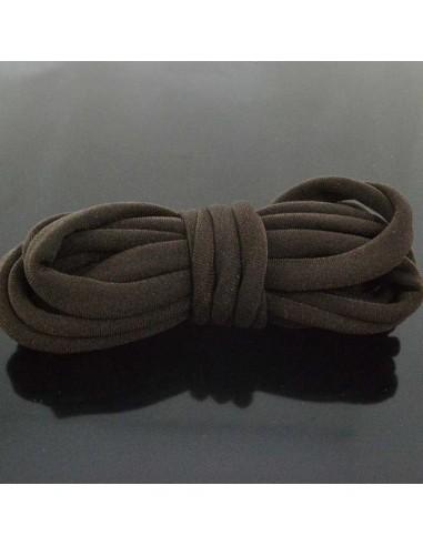 Fettuccia elastica tubolare elastica in Lycra colore Marrone scuro 1mt per bracciale collana