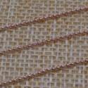 Catena Rolo in argento 925% placcato oro rosa 1 mm per 10 cm