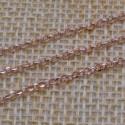 Catena Rolo in argento 925% placcato oro rosa 2 mm per 50 cm
