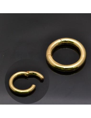 Chiusura tonda Oro 19 mm in argento 925%