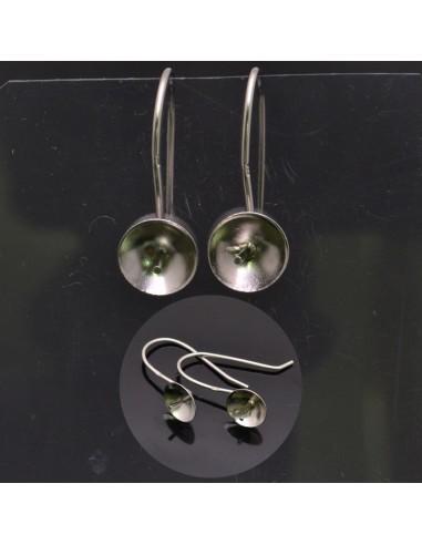 Monachelle aperte con piatto e perno 22x8 mm in argento 925%