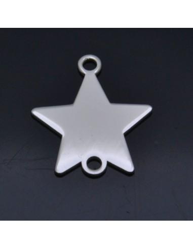Ciondolo inframezzi Stella 11x10 mm in argento 925% 2pz