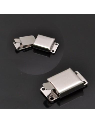 Chiusura per 2 fili 15x8 mm in argento 925%