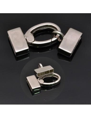 Chiusura Moschettone moschettone 20x11mm gancio 11x12mm in argento 925%