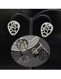 Base orecchini a perno 13x10mm in argento 925%