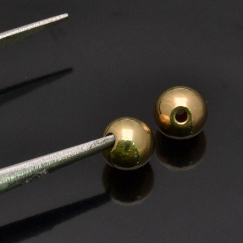 Perle Distanziatori 5 mm foro 1mm in argento 925% 10Pz