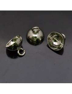 Coppette in argento 925% da 10 mm anella 4 mm 4pz