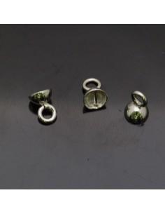 Coppette in argento 925% da 5 mm anella 4 mm 10pz