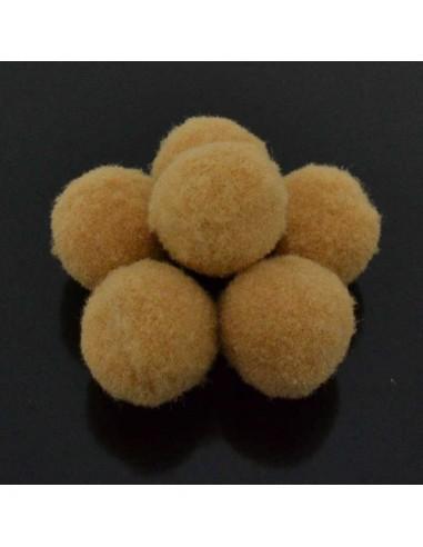 Pompon Pallina Marrone sabbia chiaro per bigiotteria orecchini ponpon collana pon pon 17 mm 4p