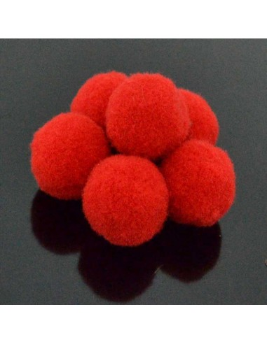 Pompon Pallina rosso per bigiotteria orecchini ponpon collana pon pon 17 mm 4p