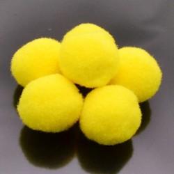 Pompon Pallina giallo fluo per bigiotteria orecchini ponpon collana pon pon 17 mm 4p