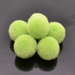 Pompon Pallina Verde menta chiaro per bigiotteria orecchini ponpon collana pon pon 17 mm 4p
