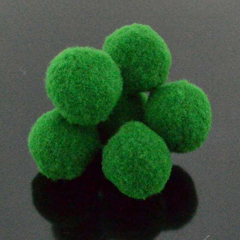 Pompon Pallina verde per bigiotteria orecchini ponpon collana pon pon 17 mm 4pz