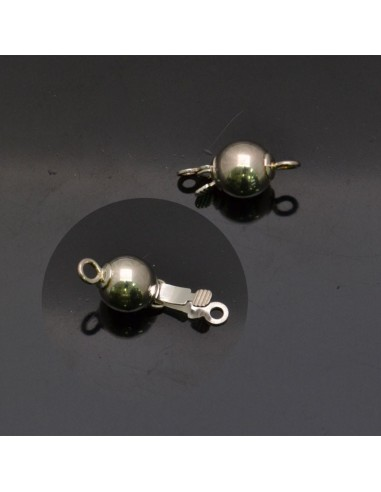 Chiusura a palla in argento 925% da 13x6 mm anella 3 mm