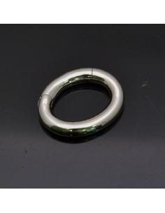 Chiusura a scatto ovale in argento 925% da 17x14 mm