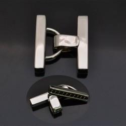 Chiusura a scatto per più fili in argento 925% da 27x23 mm