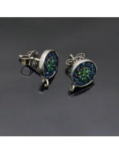 Orecchini a perno in argento 925% da 11x9 mm anella 1.8 mm