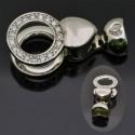 Chiusura con molla in argento 925% da 31x15 mm