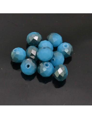 Perline rondelle di cristallo briolette 10x8 mm mezzo cristallo 10pz per bigiotteria