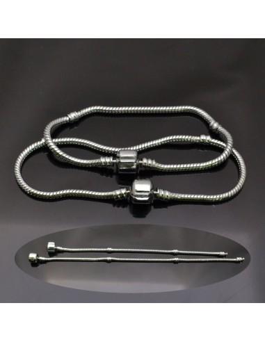 Base bracciale per charms da 19 cm e 21 cm da comporre in Ottone