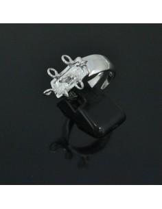 Base anelli regolabili con 7 anelle 4 mm misura da 13 53 in argento 925%