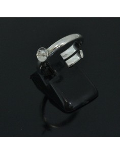 Base anelli regolabili con piatto e perno 5 mm misura da 16 56 in argento 925%
