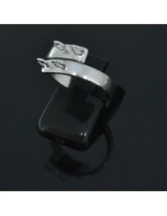 Base anelli regolabili con 4 anelle 4 mm misura da 16 56 in argento 925%