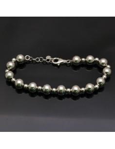 Bracciale con perle in argento 925% da 17 a 20 cm in argento 925%