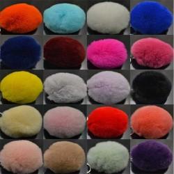 pon-pon pelliccia Pompon di pelliccia vera 80mm multicol di Ottima Qualità